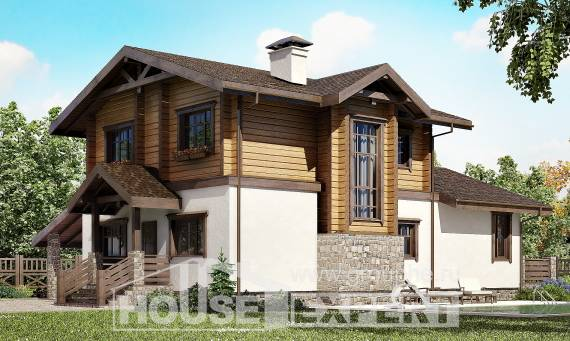 170-004-L Two Story House Plans and mansard with garage under, available Architectural Plans,