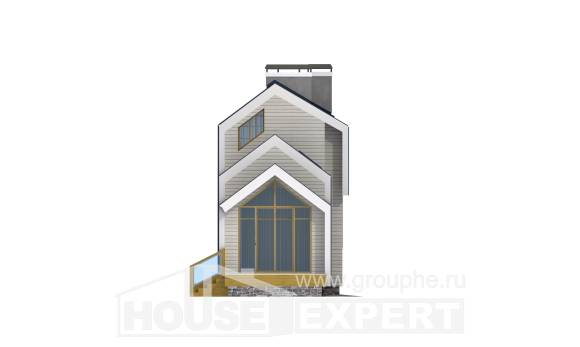 060-006-R Two Story House Plans with mansard roof, cheap House Blueprints,