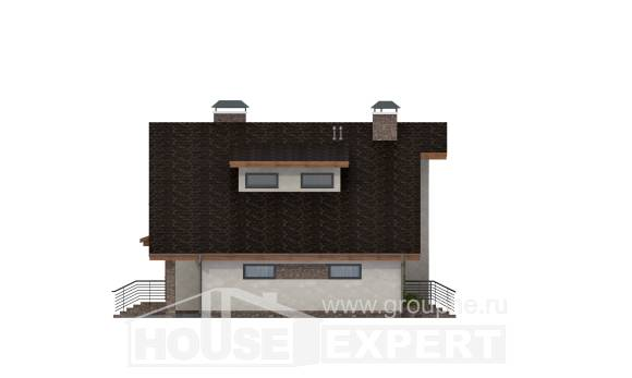 180-008-R Two Story House Plans with mansard roof with garage under, beautiful Custom Home Plans Online,