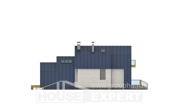 060-006-R Two Story House Plans with mansard roof, miniature Plans Free,