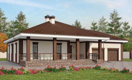 160-015-R One Story House Plans with garage under, best house Woodhouses Plans, House Expert