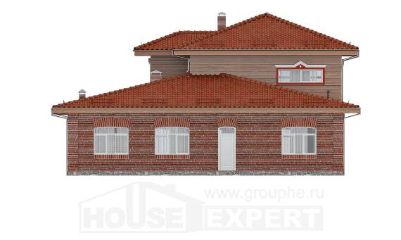 380-002-L Three Story House Plans with garage under, big Plans Free, House Expert