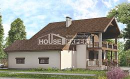 200-003-R Two Story House Plans with garage under, best house Cottages Plans,