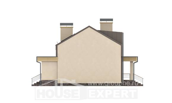 150-015-L Two Story House Plans with mansard with garage under, modest Tiny House Plans, House Expert