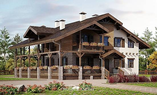 400-004-R Three Story House Plans and mansard and garage, modern House Planes,