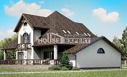 350-001-L Two Story House Plans with mansard roof with garage, best house Blueprints,