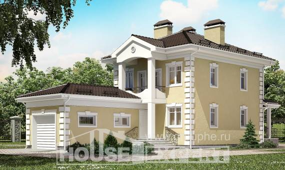 150-006-L Two Story House Plans with garage, classic Custom Home Plans Online,