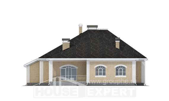 290-001-R Two Story House Plans with mansard with garage, classic Timber Frame Houses Plans, House Expert