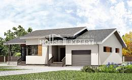 135-002-R One Story House Plans with garage in front, inexpensive Architect Plans,
