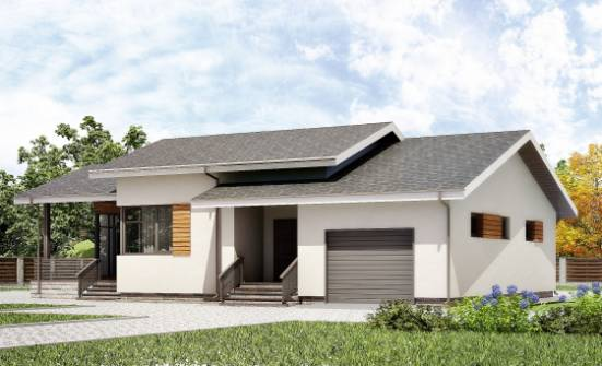 135-002-R One Story House Plans and garage, classic Planning And Design,