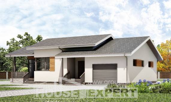 135-002-R One Story House Plans with garage in front, best house House Online,