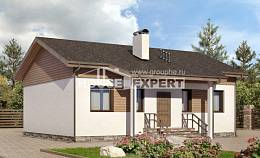 080-004-L One Story House Plans, compact Timber Frame Houses Plans, House Expert