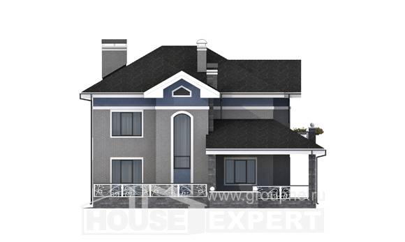 200-006-L Two Story House Plans, beautiful Custom Home Plans Online, House Expert