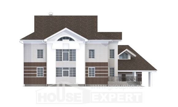 410-001-R Two Story House Plans with garage, spacious Tiny House Plans,