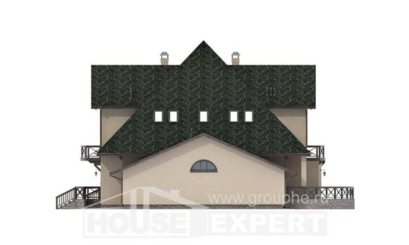 350-001-R Two Story House Plans with mansard roof with garage, best house Online Floor