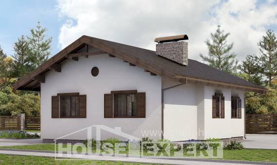 090-002-R One Story House Plans, inexpensive House Building,