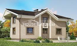 210-003-R Two Story House Plans with mansard roof, spacious Building Plan,