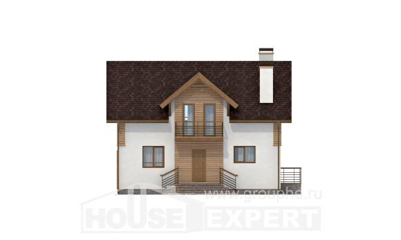 150-009-R  Two Story House Plans, small Floor Plan,