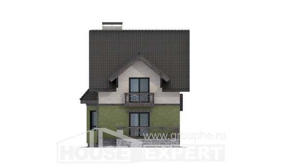 120-003-R Two Story House Plans, cozy Villa Plan,