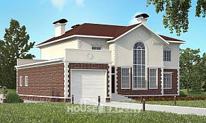 380-001-L Two Story House Plans with garage under, spacious Models Plans