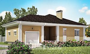 130-002-L One Story House Plans and garage, classic House Planes
