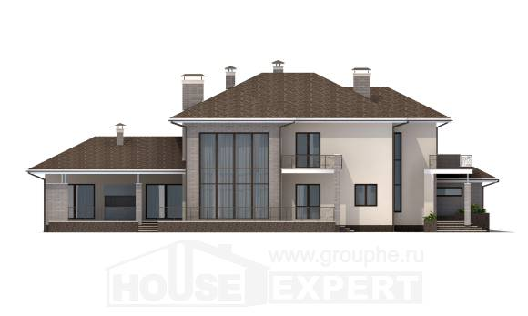 500-001-R Three Story House Plans with garage under, spacious House Building, House Expert