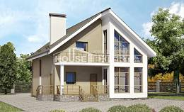 170-006-L Two Story House Plans with mansard, cozy Models Plans
