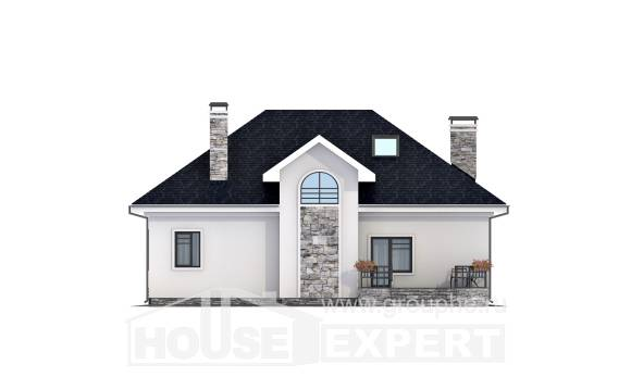 150-008-R Two Story House Plans with mansard roof, a simple Home Blueprints,