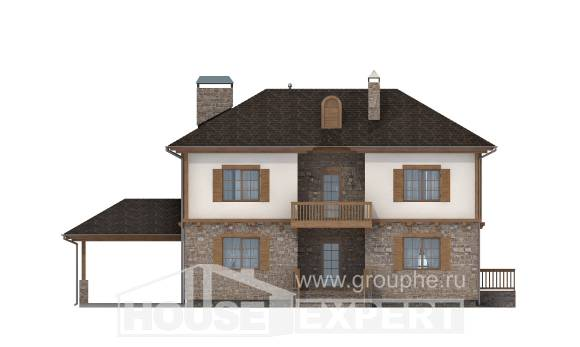 155-006-L Two Story House Plans with garage in front, modern Architectural Plans, House Expert