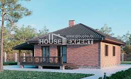 070-006-L One Story House Plans, inexpensive Villa Plan, House Expert