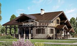 320-002-R Two Story House Plans and mansard, a huge Blueprints,