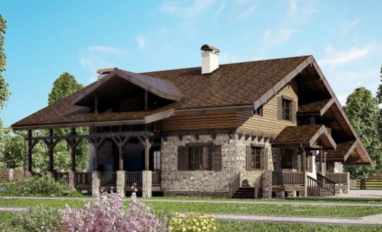320-002-R Two Story House Plans with mansard, a huge Timber Frame Houses Plans,