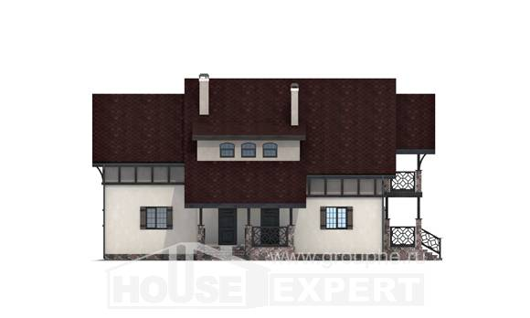 180-014-R Two Story House Plans with mansard roof, modern House Plans,
