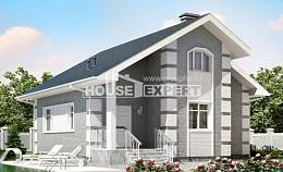 115-001-L Two Story House Plans and mansard, cozy House Building,