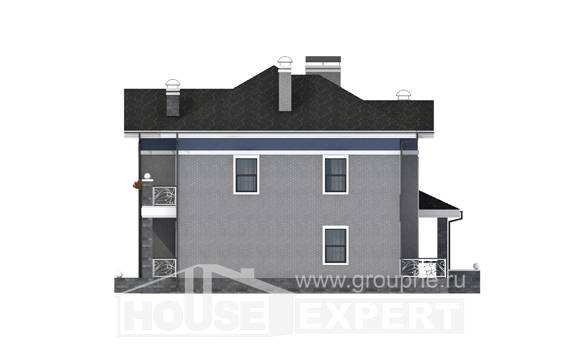 200-006-L Two Story House Plans, classic Custom Home,