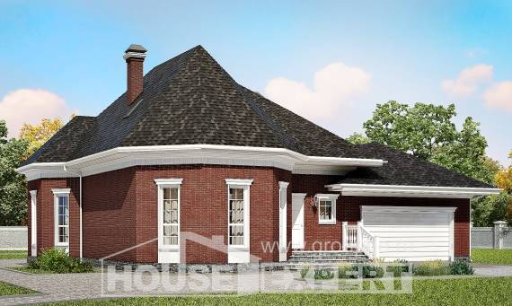 290-002-R Two Story House Plans with garage, cozy Design Blueprints, House Expert
