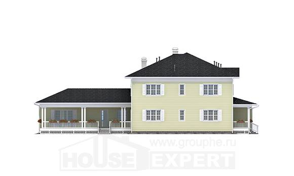 410-002-L Two Story House Plans and garage, luxury Villa Plan,
