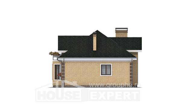 150-013-L Two Story House Plans with mansard roof, inexpensive Construction Plans,