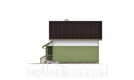 120-002-R Two Story House Plans with mansard roof with garage in back, the budget Drawing House,