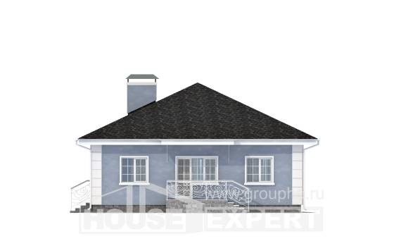 100-001-R One Story House Plans, a simple Villa Plan,