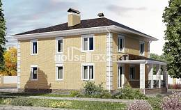 220-006-L Two Story House Plans with garage in front, spacious Models Plans,