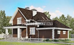 190-003-L Two Story House Plans with mansard roof and garage, classic House Blueprints,