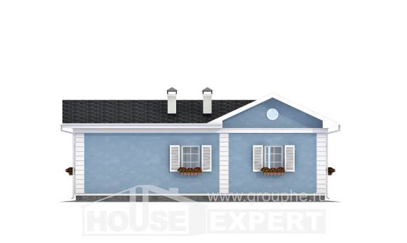 090-004-R One Story House Plans, modest Architect Plans,