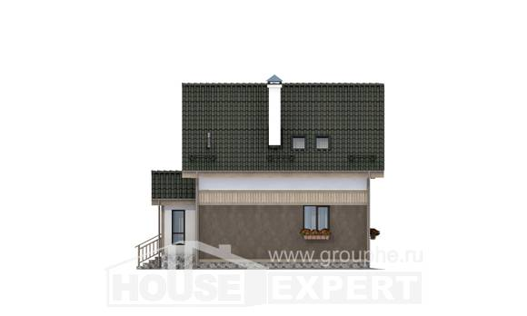 105-001-L Two Story House Plans with mansard roof, beautiful Drawing House,
