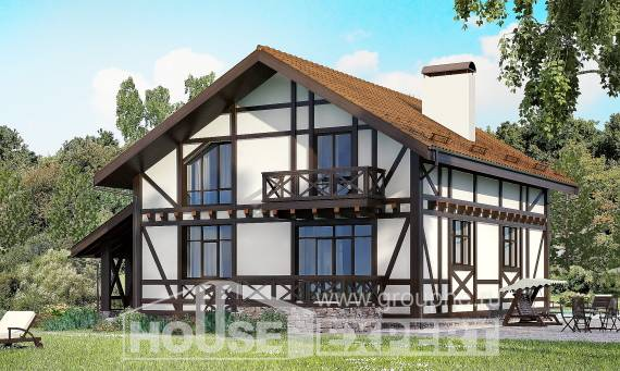 155-002-R Two Story House Plans and mansard with garage, the budget Plans Free,