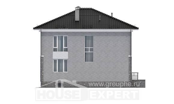 275-004-R Three Story House Plans with garage under, big Plan Online, House Expert