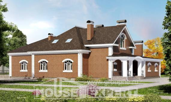 400-003-R Two Story House Plans with mansard roof, big Blueprints of House Plans,
