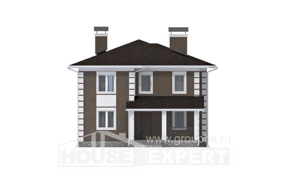 185-002-R Two Story House Plans, classic House Planes,
