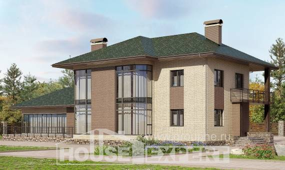 305-003-R Two Story House Plans, spacious Timber Frame Houses Plans, House Expert