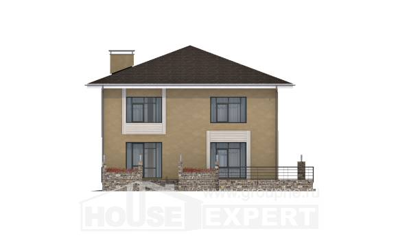 180-015-L Two Story House Plans, spacious House Plans,